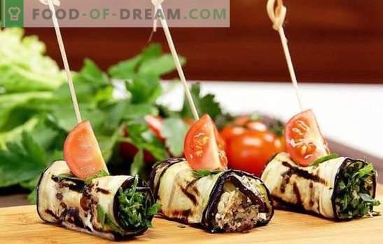 Rolinhos de berinjela com queijo e alho - gostoso! As melhores ideias para rolinhos de berinjela com queijo e alho