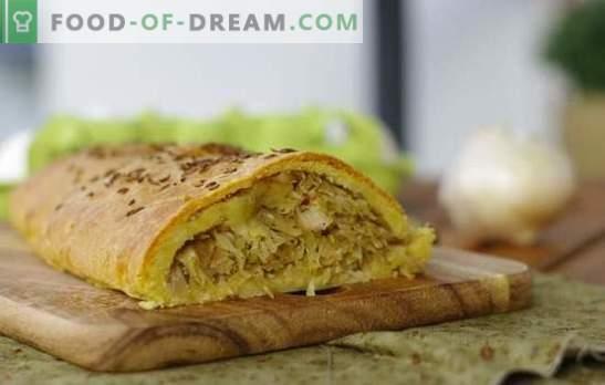 Cabbage Pie: przepis na ulubione wypieki krok po kroku. Sprawdzone przepisy krok po kroku dla drożdży i ciasta przaśnego