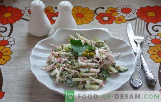 Susipažinkite: greita ir paprasta salotų skuba! Paprasti salotų receptai darbo dienomis ir švenčių dienomis