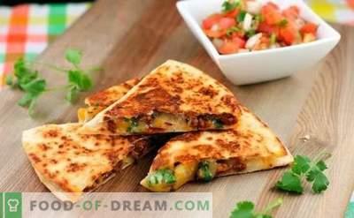 Tortilla z serem to apetyczny burrito! Gotowanie w domu Meksykańska tortilla z serem według prostych przepisów