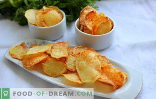 Чипс дома - нема штета! Како да се направи чипс дома: во микробранова печка, во рерна, сирење, од пита, класичен