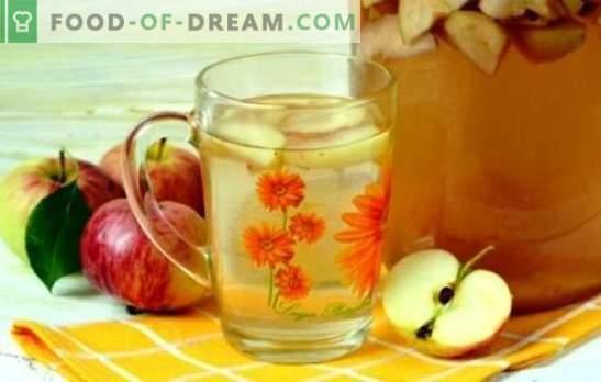 Compote de mere pentru iarnă - pregătească de vară în bănci! Rețete de compoturi de mere diferite pentru iarnă cu și fără sterilizare