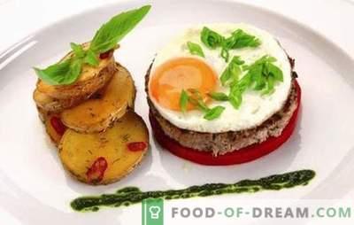 Befsztyk z jajkiem: 2 w 1! Przepisy różnych steków z jajkami z wołowiny, wieprzowiny, kurczaka, ryżu, buraków, po francusku