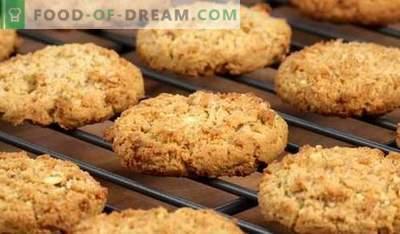 Biscoitos de aveia - as melhores receitas. Como preparar biscoitos de aveia.