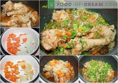 Wieloogonowy gulasz z kurczaka - najlepsze przepisy. Jak właściwie i smacznie gotować w wolnym gulaszu z kurczaka.