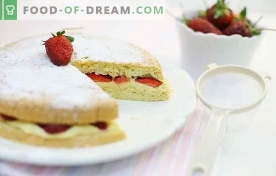 Biszkopt z owocami - lekki, słodki, delikatny! Przepisy na najsmaczniejsze ciastka z owocami: wanilia, czekolada, wrząca woda