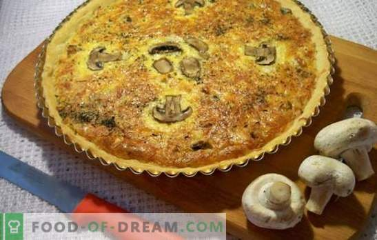 Grybų pyragas - nuostabus paprastumas ir skonis! Virimo grybų želė pyragai pagal geriausius receptus