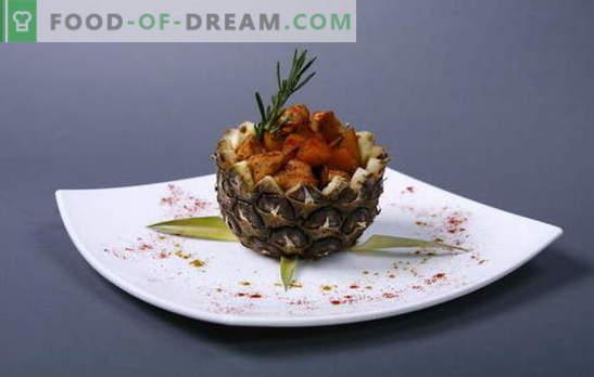Anspruchsvolle und einfache Zubereitung von Hähnchenfilets mit Ananas im Ofen. Hähnchenfilet mit Ananas im Ofen - ganz einfach!