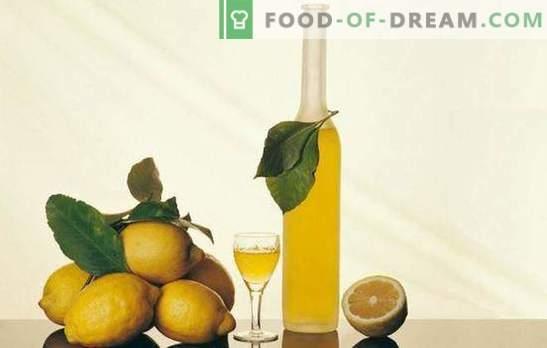Nalewka z cytryny i tajemnice jej przygotowania. Przepisy na likier cytrynowy na domowy bar o orzeźwiającym zapachu cytrusów