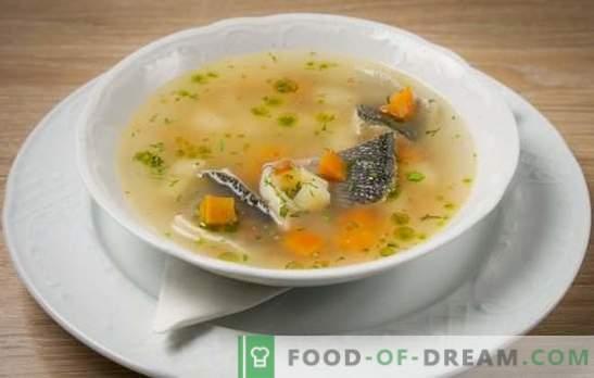 Produkty skromne, genialny wynik - ucho ryb rzecznych. Gotowanie bogatej zupy rybnej z ryb rzecznych w doniczce i doniczkach