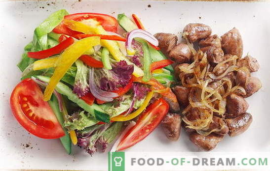 Пилешки сърца с лук - ежедневно деликатес! Рецепти на пържени, задушени, печени сърца с лук, моркови