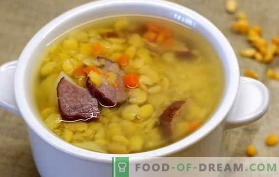 Zupa grochowa z mięsem bardzo lubi dzieci. Gotowanie zupy grochowej z mięsem jest prostym i dostępnym procesem dla wszystkich: przepisy