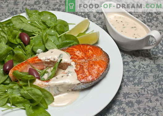 Sosy rybne - najlepsze przepisy. Jak prawidłowo i gotować sos dla ryb.