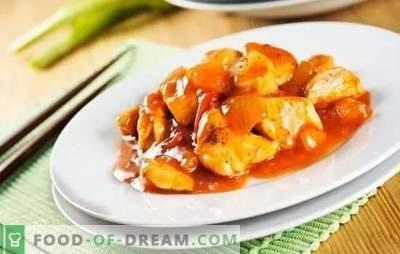Kana Hiina kastmes - lihtne ja idamaine. Eksootiliste kanaroogade valmistamine kodus kodus kastmes