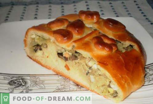 Kulebyaka z kapustą - najlepsze przepisy. Jak prawidłowo i smacznie gotować ciasto z kapustą.