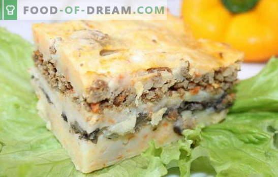 Zapiekanka z mielonym mięsem i ziemniakami - oszczędzaj czas! Przepisy na zapiekanki z mięsem mielonym i ziemniakami, a także grzyby, ser, warzywa