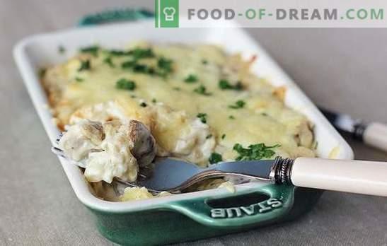Smażone, pieczone lub duszone ziemniaki z grzybami w śmietanie: nikt nie jest obojętny! Proste przepisy na ziemniaki z grzybami w śmietanie