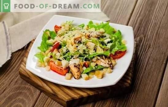 Chicken Caesar: krok po kroku przepis na popularną sałatkę. Przepisy na gotowanie Cezara z kurczakiem z oryginalnymi dressingami