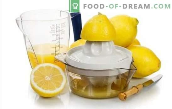 ¡Haciendo jugo de limón - recetas con un sabor divino! Jugo de limón: recetas de bebidas alcohólicas y no alcohólicas con él