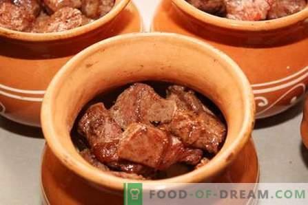 Mięso doniczkowe - najlepsze przepisy. Jak prawidłowo i smacznie gotować mięso w doniczkach.