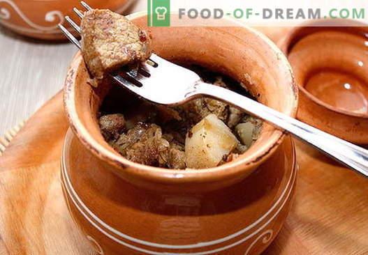 Carne de porco no pote - as melhores receitas. Como corretamente e saboroso cozinhar carne de porco em uma panela.