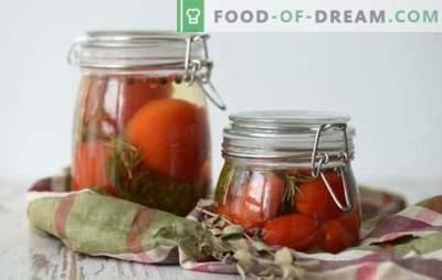 Marynata do pomidorów - główny bohater przygotowania pomidorowego! Przepisy na pyszne marynaty do pomidorów: z octem, aspiryną, wódką