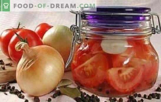 Pomodori con fette per l'inverno: ricette testate nel corso degli anni. Raccogliamo pomodori con fette per l'inverno: delizioso o caldo