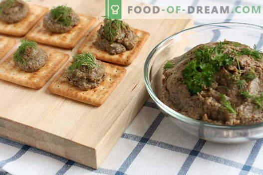 Pasztet z grzybów - najlepsze przepisy. Jak prawidłowo i smacznie pasztet grzybowy.