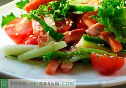 Sałatki warzywne - pięć najlepszych przepisów. Jak prawidłowo i smacznie przygotować sałatki z olejem roślinnym.