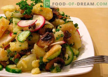 Sałatka z wątroby z piklami - najlepsze przepisy. Jak właściwie i smacznie przygotować sałatkę z wątróbką i marynatami.