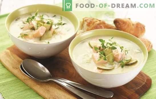 Zupa krem z łososia - pyszny urok! Fińska zupa rybna ze śmietaną - tajemnice zdrowia i sukcesu starożytnych Wikingów