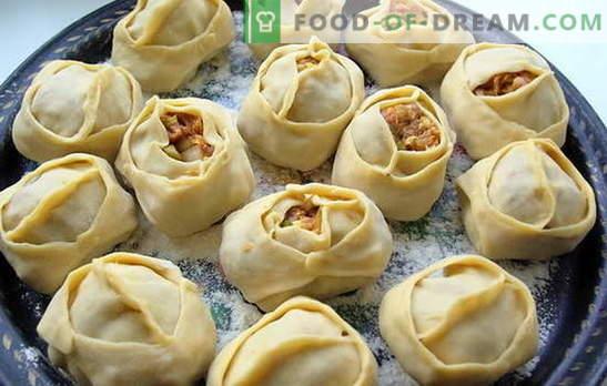 Manty z ziemniakami i mięsem mielonym to danie rosyjskie. Przepisy różnych pierogów z ziemniakami i mięsem mielonym: zwykłe i leniwe