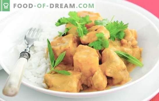 Duszona pierś - najbardziej delikatne mięso. Wybór najlepszych receptur na gulasz: w śmietanie, śmietanie, serze, sosie tobasco, pieczarkach i warzywach