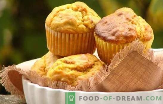 Pumpkin Cupcake - Pieczenie z korzyścią! Wybór przepisów na babeczki z dynią i rodzynkami, kandyzowanymi owocami, płatkami zbożowymi, czekoladą, orzechami
