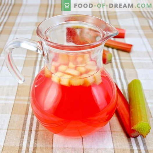 Kompot z rabarbaru - najlepsze przepisy. Jak prawidłowo i smacznie przygotować kompot z rabarbaru.