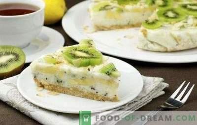 Ciasto z kiwi i bananem - słodkie, pachnące i świeże! Przepisy na twaróg, herbatniki, jogurt, leniwe kiwi i ciasta bananowe