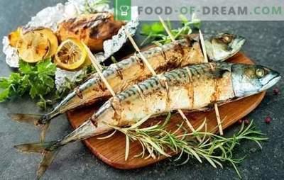 Makrela z grilla to najlepszy przepis na marynatę i podawaj. Jak gotować grillowaną makrelę z pikantnymi i pikantnymi sosami