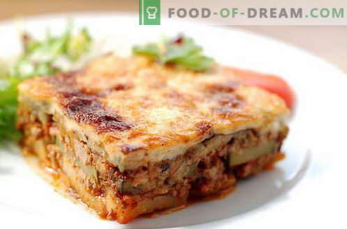 Bakłażan Moussaka - najlepsze przepisy. Jak prawidłowo i smacznie przyrządzić musakę z bakłażana.