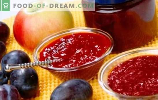 Dżem z jabłek i śliwek - bursztynowa słodycz do herbaty i do pieczenia. Najlepsze przepisy na pachnący dżem z jabłek i śliwek