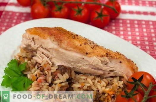 Kurczak nadziewany ryżem - najlepsze przepisy. Jak właściwie i smacznie gotować kurczaka nadziewanego ryżem.