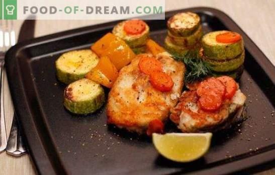 Stek z dorsza w piekarniku - niskokaloryczny, smaczny, stylowy. Jak gotować stek z dorsza w piekarniku z warzywami, sosem, grzybami, winem