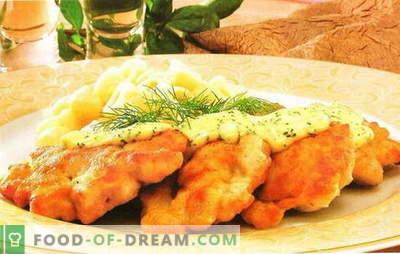 Pierś z kurczaka z marchewką to piękny posiłek dietetyczny. Przepisy na pierś z kurczaka i marchewki: bułka, pieczeń, sałatka, kotlety