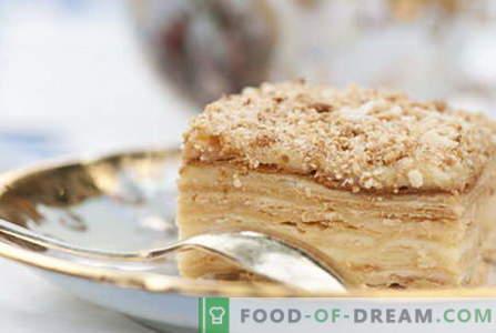 Napoleon cake - de beste recepten. Hoe Napoleon cake goed te bereiden en te koken.