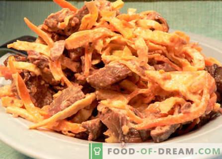 Sałatka z wątróbką i marchewką - najlepsze przepisy. Jak właściwie i smacznie przygotować sałatkę z wątróbką i marchewką.