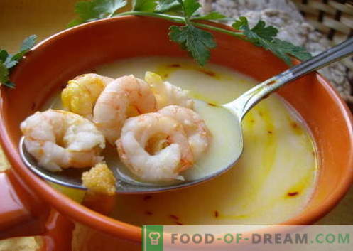 Zupa z krewetek - najlepsze przepisy. Jak prawidłowo i smacznie gotować zupę z krewetkami.