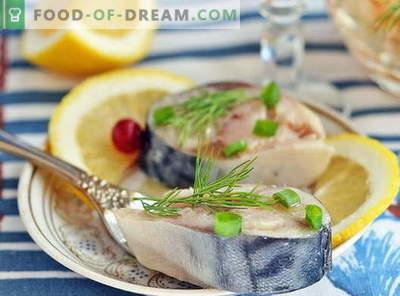 Marynowana makrela - najlepsze przepisy. Jak marynować makrele w domu.