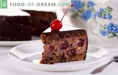 """Drunk Cherry Cake w domu - nie upijaj się! Przepisy ciasto """"Pijana wiśnia"""" z różnymi nadzieniami i warstwami ciasta"""