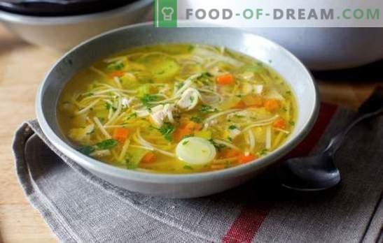 Zupa z kurczaka: najpierw przepisy krok po kroku. Warianty zup kurczaka z ziemniakami, makaronem, jajecznicą, ryżem (krok po kroku)