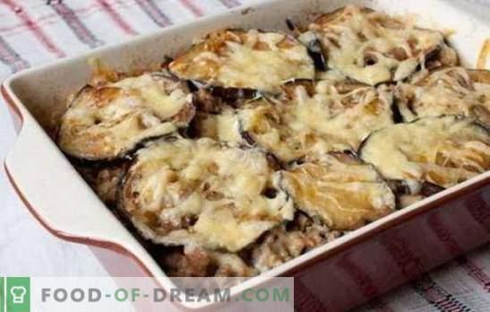 Mięso mielone i bakłażan zapiekanka w piekarniku - wspaniała kolacja! Przepisy różnych zapiekanek z mielonego mięsa i bakłażana w piekarniku