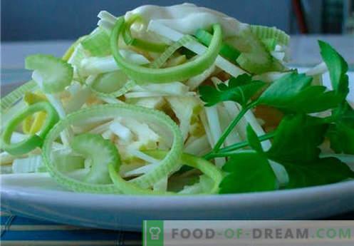 Seler i sałatka z jabłek to najlepsze przepisy. Jak prawidłowo i smacznie ugotować sałatkę z selera z jabłkiem.